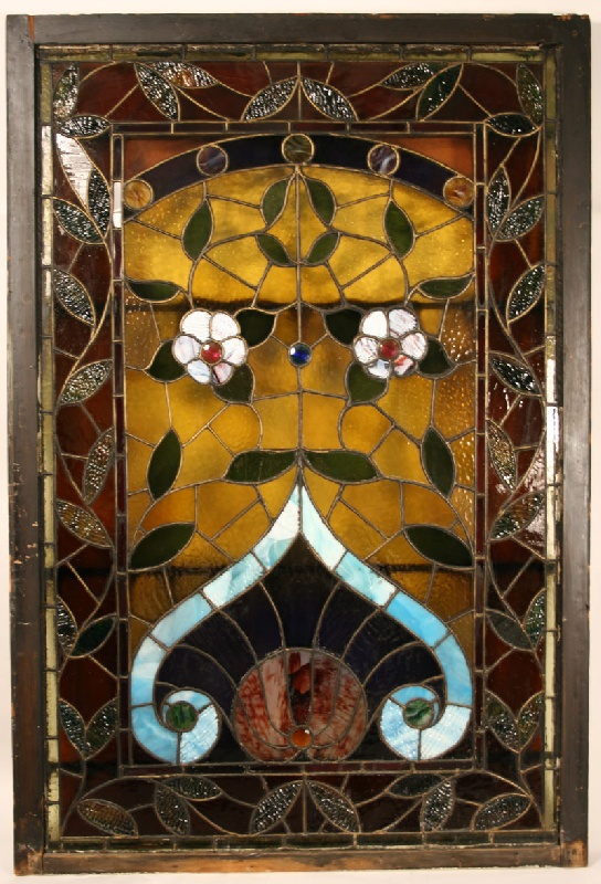 Victorian stained glass window from Elliston Buford Mansion, Nashville