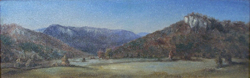East Tennessee landscape oil by Thomas Campbell (lot#111)