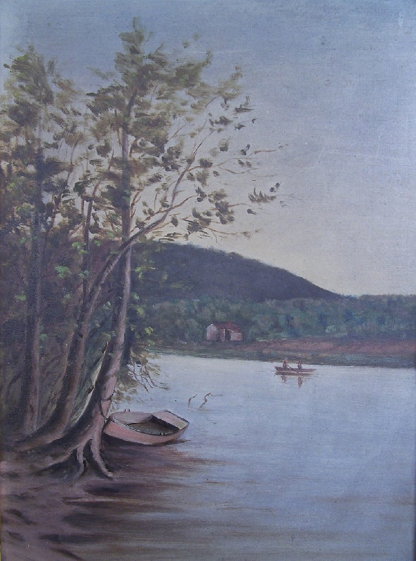 River landscape of East Tennessee, attributed to Thomas Campbell (lot#159)