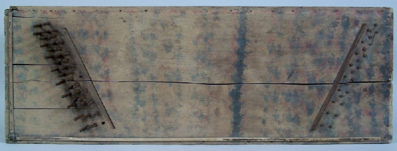 Tennessee paint decorated dulcimer, circa 1840 (lot#150)