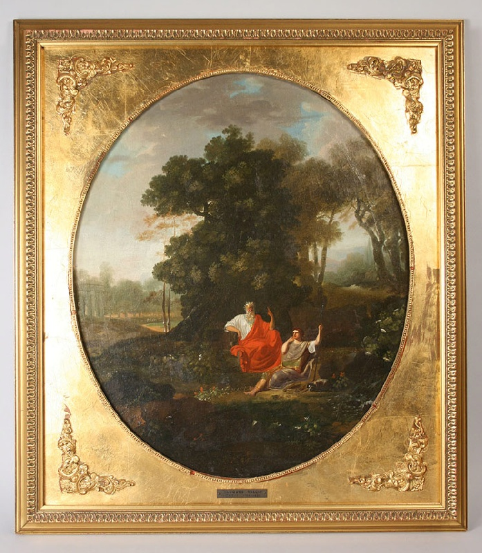 Oil on canvas by Jacques Vallin (Paris, France 1760-1831)
