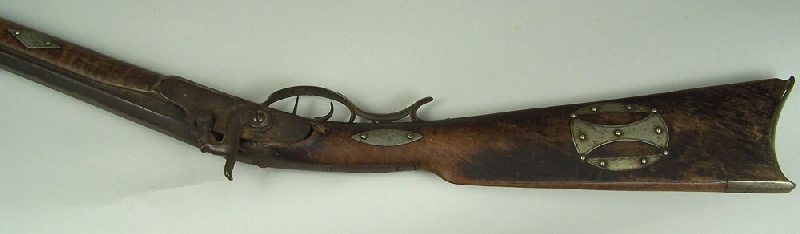 North Carolina long rifle, marked TFM for Thomas Fletcher Meritt (lot#2)