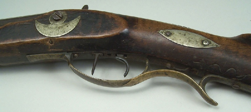North Carolina long rifle, marked TFM for Thomas Fletcher Meritt (lot#2)