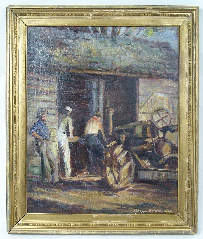 Painting on canvas by Knoxville artist, Eleanor Wiley (lot#158)