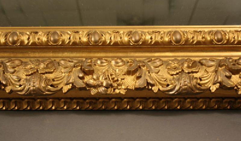 Labeled Wilmurt & Son gilt carved mirror, New York