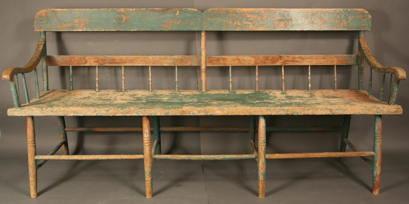 Wythe Co. Virginia meetinghouse windsor bench