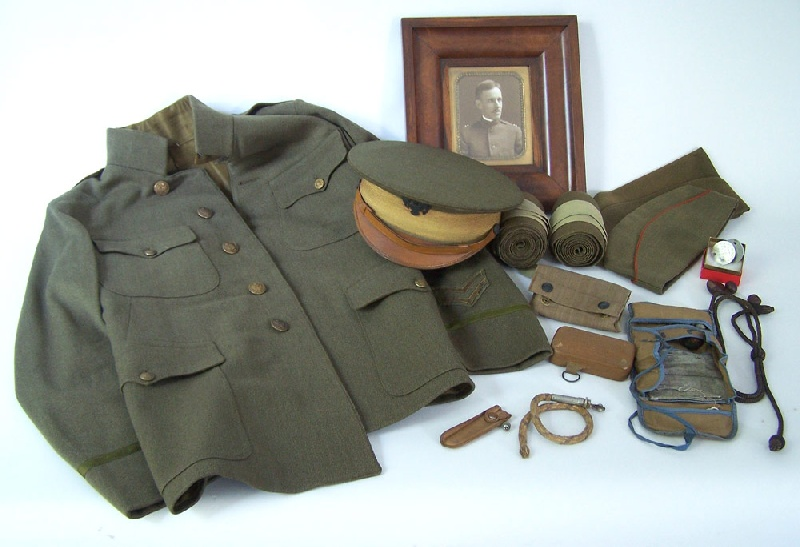 World War I Army Uniform And Personal Effects, Captain A.W. Harris