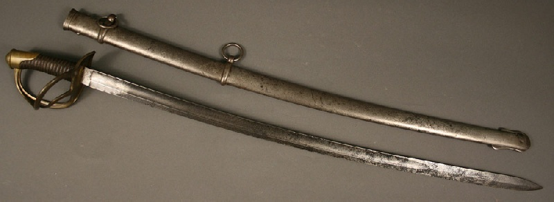 Civil War era wristbreaker saber and scabbard